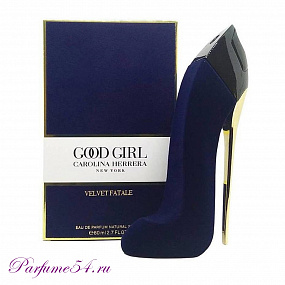 Carolina Herrera Good Girl Velvet Fatale Blue TESTER 80 мл